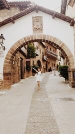 At a certain village in Spain, but I can't remember