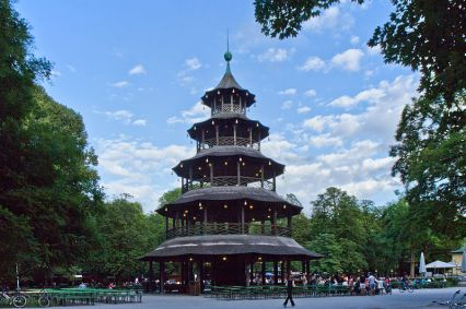 Go and have a beer at the beer garden in englischer Garten