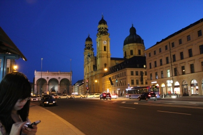 Odeonsplatz at night